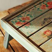 Для дома и интерьера ручной работы. Ярмарка Мастеров - ручная работа Складной столик-поднос в технике декупаж «Paris». Handmade.