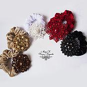Украшения ручной работы. Ярмарка Мастеров - ручная работа Резинки для волос с украшением, для прически фриволите анкарс. Handmade.