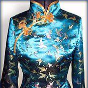 Одежда ручной работы. Ярмарка Мастеров - ручная работа Блузка в китайском стиле. Handmade.