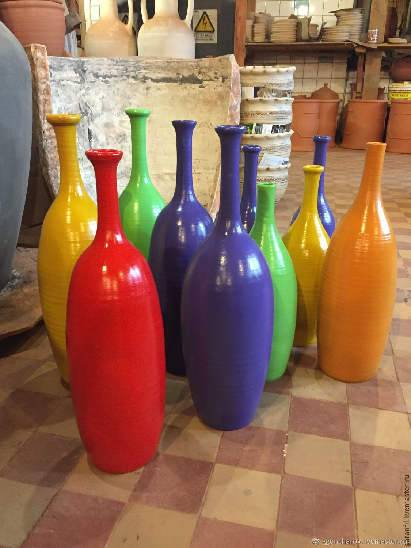 Бутылки керамические