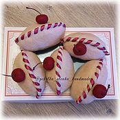 Куклы и игрушки ручной работы. Ярмарка Мастеров - ручная работа Вишневые пирожки. Handmade.