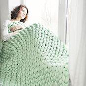 "Для дома и интерьера handmade. Livemaster - original item Merino blanket ""Pistachio"" L. Handmade."