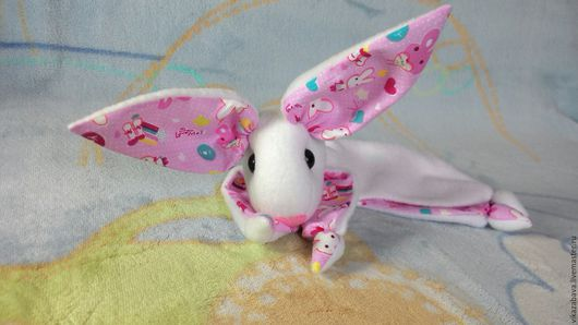 Комфортер, комфортер куски, комфортер зайчик, комфортер зайка, белая зайка, белый зайчик, нежный комфортер, Мамина нежность, подарок для новорожденных, первая игрушка, подарок малышу