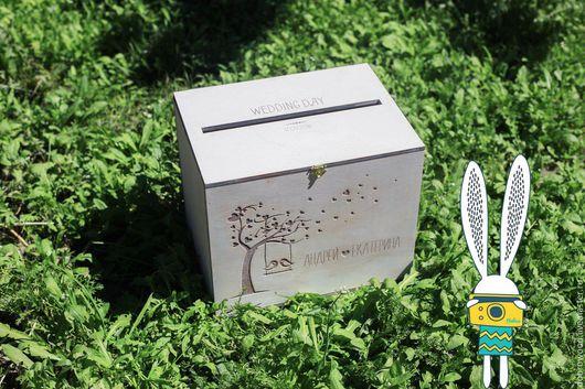 Свадебные аксессуары ручной работы. Ярмарка Мастеров - ручная работа. Купить сундучок для поздравительных конвертов из дерева, сундучок для денег. Handmade.