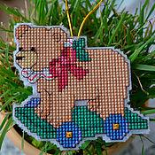 Сувениры и подарки handmade. Livemaster - original item Christmas toy bear. Handmade.