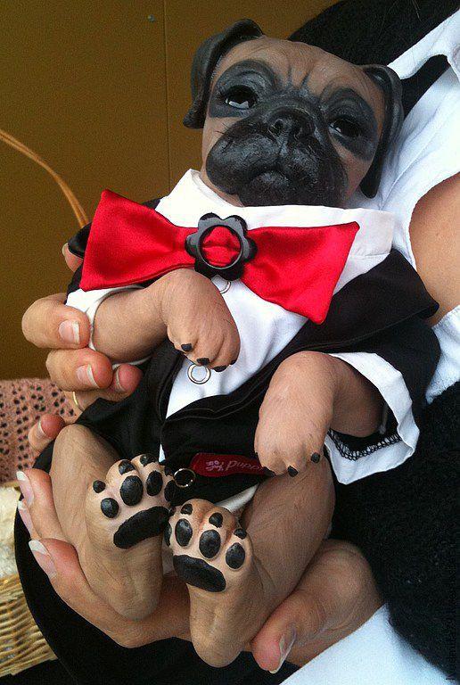 Куклы-младенцы и reborn ручной работы. Ярмарка Мастеров - ручная работа. Купить Реборн-Мопс ,принцеса (1).. Handmade. Коричневый