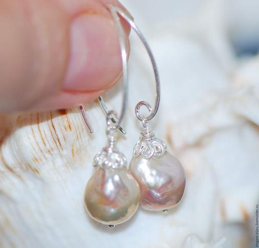 жемчужные серьги; купить серьги с жемчугом; серьги касуми серебро; серьги серебряные с касуми; купить серьги в подарок; жемчужные серьги купить; подарок на новый год; подарок любимой; подарок жене
