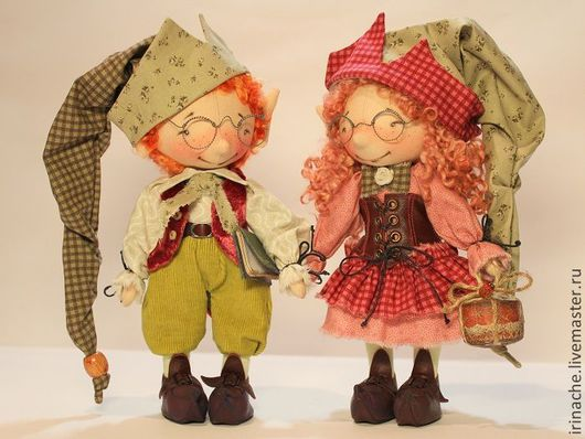 Коллекционные куклы ручной работы. Ярмарка Мастеров - ручная работа. Купить Гномы Весенние. Handmade. Гном, подарок девушке