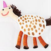 Куклы и игрушки ручной работы. Ярмарка Мастеров - ручная работа Единорог леопардовый по рисунку ребенка. Handmade.