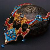 Necklace handmade. Livemaster - original item Bead embroidery Swarovski crystals necklace Oddiyana. Handmade.