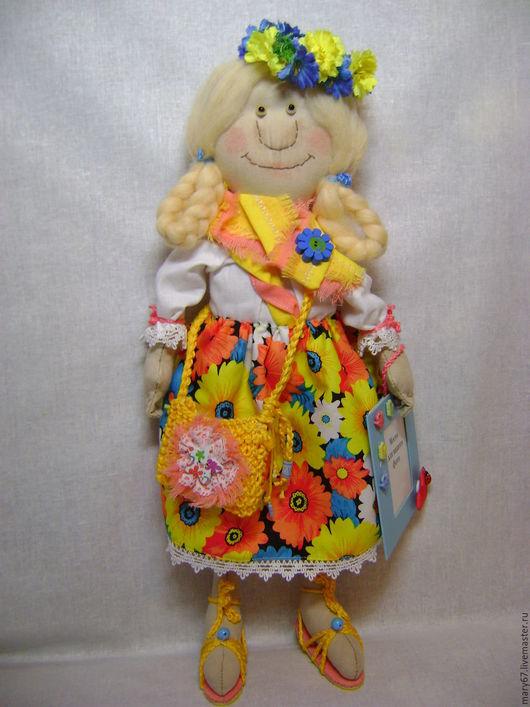 Коллекционные куклы ручной работы. Ярмарка Мастеров - ручная работа. Купить Воспоминания о лете....  Кукла текстильная. Handmade. Коралловый