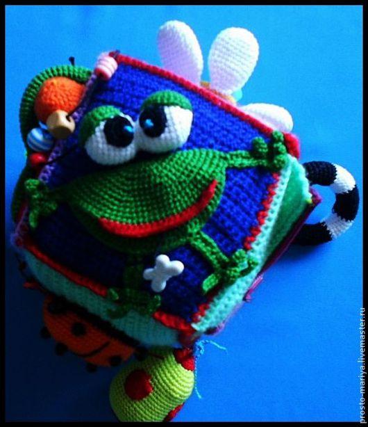Развивающие игрушки ручной работы. Ярмарка Мастеров - ручная работа. Купить Кубик-погремушка № 2.. Handmade. Развивающая игрушка