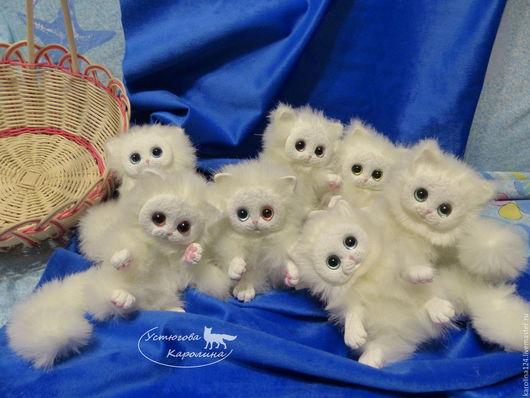 Куклы и игрушки ручной работы. Ярмарка Мастеров - ручная работа. Купить Белые котята породы Снежный принц. Handmade. Белый