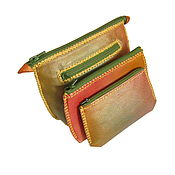 """Сумки и аксессуары handmade. Livemaster - original item Set of three cosmetic bags """"Rainbow"""". Handmade."""