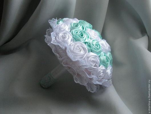 Свадебные цветы ручной работы. Ярмарка Мастеров - ручная работа. Купить Свадебный букет. Для примера. Handmade. Мятный