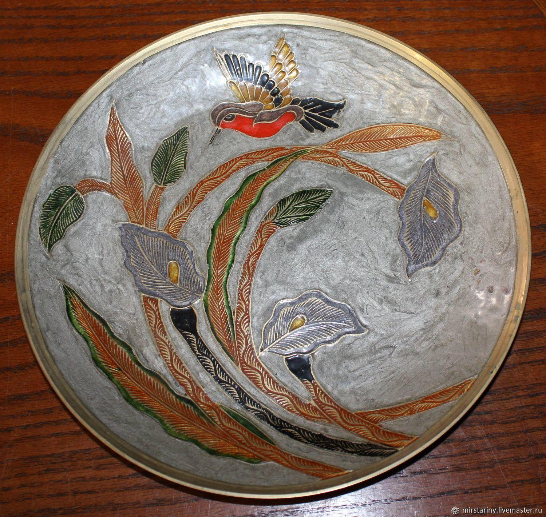 Vintage Interior Decor. Livemaster - handmade. Buy Copper plate Japanese-style  Hummingbird, ...