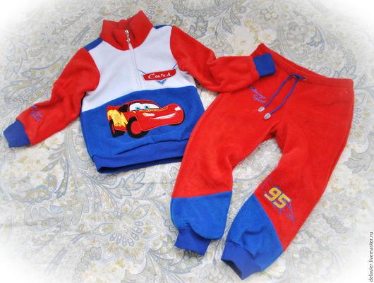 """Одежда для мальчиков, ручной работы. Ярмарка Мастеров - ручная работа. Купить Флисовый костюм-поддева """"Тачки"""". Handmade. Комбинированный"""