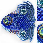 Картины и панно ручной работы. Ярмарка Мастеров - ручная работа Синяя рыба. Handmade.
