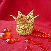 """Заколки ручной работы. Ярмарка Мастеров - ручная работа """"Золотая корона"""" праздничная заколка. Авторская работа.. Handmade."""