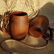 handmade. Livemaster - original item Beer mug Barrel gift man. Handmade.
