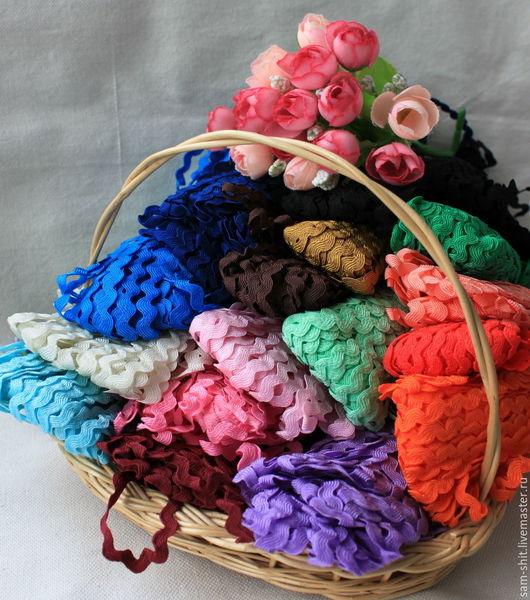 Шитье ручной работы. Ярмарка Мастеров - ручная работа. Купить Тесьма вьюнчик 8 мм 17 цветов. Handmade.