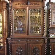 Для дома и интерьера ручной работы. Ярмарка Мастеров - ручная работа антикварный Буфет в стиле охота со старинными стеклами. Handmade.