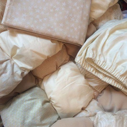 Детская ручной работы. Ярмарка Мастеров - ручная работа. Купить Комплект в детскую кроватку Бомбон. Handmade. Бортики, для новорожденных