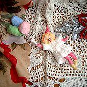 """Подарки к праздникам ручной работы. Ярмарка Мастеров - ручная работа Ватная елочная игрушка """" Девочка с шарами"""". Handmade."""
