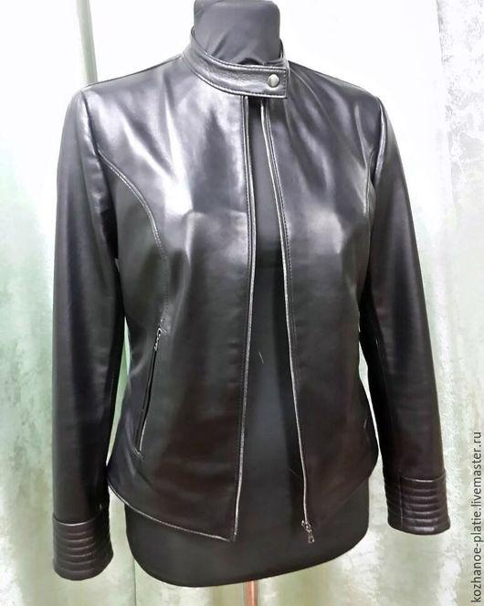 Верхняя одежда ручной работы. Ярмарка Мастеров - ручная работа. Купить Скидка 25%! Кожаная куртка чёрная женская (натуральная кожа). Handmade.
