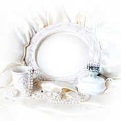"Mirror handmade. Livemaster - original item Mirror ""Morning in Provence"" boudoir round. Handmade."