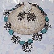 """Украшения handmade. Livemaster - original item Ожерелье с бирюзой + серьги  """"Лада"""". Handmade."""