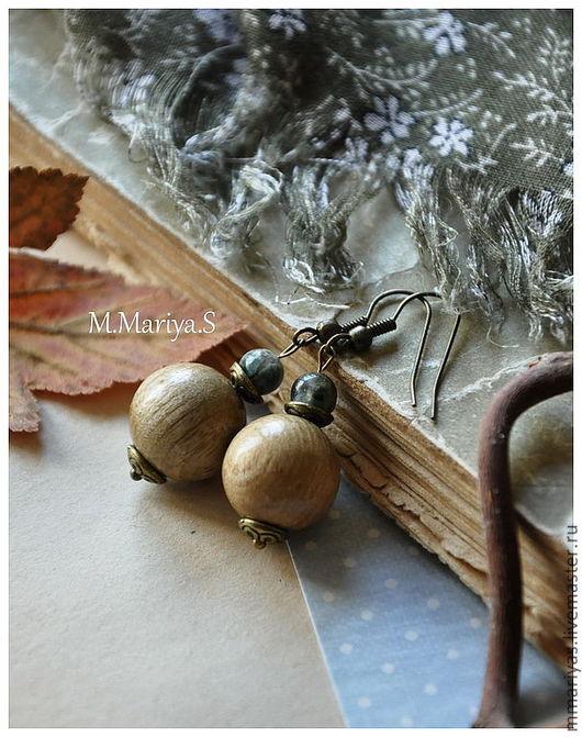 """Серьги ручной работы. Ярмарка Мастеров - ручная работа. Купить Серьги """"Босиком по мостовой.."""". Handmade. Серьги, светло-оливковый"""