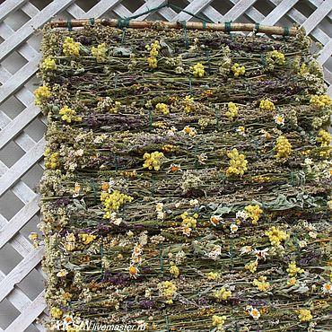 Свадебный салон ручной работы. Ярмарка Мастеров - ручная работа Мятно-полынный ароматный коврик из трав. Handmade.