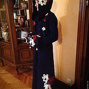 Одежда ручной работы. Ярмарка Мастеров - ручная работа Зимнее пальто в цветах для Елизаветы. Handmade.