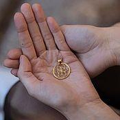 Украшения handmade. Livemaster - original item Seed of Life Pendant 925 Sterling Silver Gold Plated. Handmade.