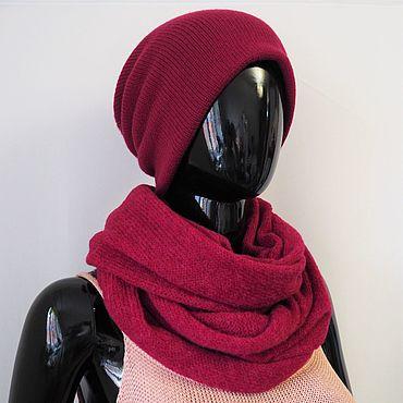 Accessories handmade. Livemaster - original item The hat is double of Merino. Handmade.
