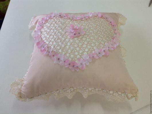 Текстиль, ковры ручной работы. Ярмарка Мастеров - ручная работа. Купить Подушка Маленькая принцесса. Handmade. Бледно-розовый, кружево