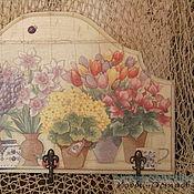 Для дома и интерьера ручной работы. Ярмарка Мастеров - ручная работа Вешалка Прованс, декупаж. Handmade.
