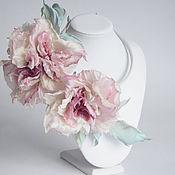 Свадебный салон ручной работы. Ярмарка Мастеров - ручная работа Ободок на голову с цветами. Розы из шелка.. Handmade.