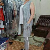 Одежда ручной работы. Ярмарка Мастеров - ручная работа 341: летний костюм в пижамной стиле, пижамный костюм женский на лето. Handmade.