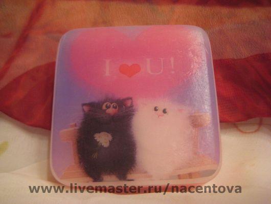 """Подарки для влюбленных ручной работы. Ярмарка Мастеров - ручная работа. Купить """"Влюбленные кошки"""". Handmade. Мыльная основа, масло миндальное"""