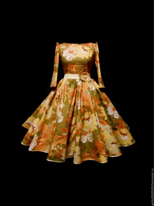 """Платья ручной работы. Ярмарка Мастеров - ручная работа. Купить Платье """"Цветок Элизабет"""" авторское. Handmade. Комбинированный, праздничное платье"""