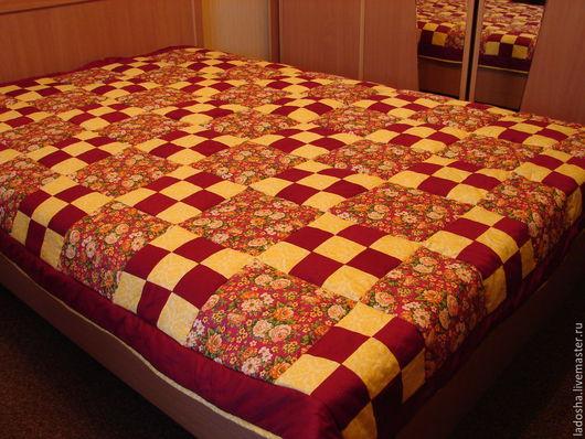 Текстиль, ковры ручной работы. Ярмарка Мастеров - ручная работа. Купить лоскутное покрывало Радость. Handmade. Разноцветный, покрывало, спальня