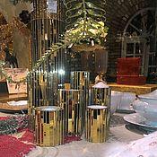 Для дома и интерьера handmade. Livemaster - original item The mirrored mosaic candle holders from the range. Handmade.