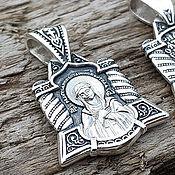 Украшения handmade. Livemaster - original item Pendant Image Of The Mother Of God (Emotion). Silver 925 art. One million eleven thousand three hund. Handmade.