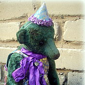 Куклы и игрушки ручной работы. Ярмарка Мастеров - ручная работа Тедди мишка Арлекина. Handmade.
