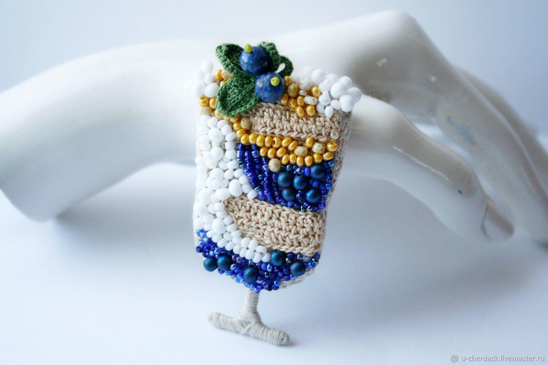 Brooch 'parfait Blueberry', Brooches, Pavlovsky Posad,  Фото №1