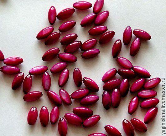 Для украшений ручной работы. Ярмарка Мастеров - ручная работа. Купить Перламутр, бусины-рис, розово-пурпурный, бусины перламутр. Handmade.