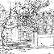 Картины и панно ручной работы. Ярмарка Мастеров - ручная работа Крапивинский переулок. Handmade.
