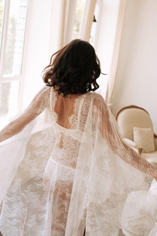 Кружевной халатик для невесты. Подарок для невесты. Кружевной пеньюар, Пеньюары и белье, Пенза,  Фото №1